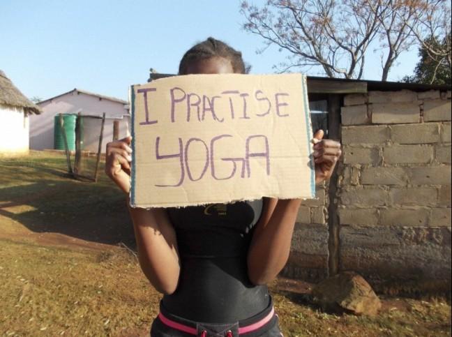 Nothando Sabela, Yoga with NO face, 2012